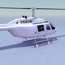 Bell 206 JetRanger Helicopter 3D Model