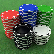 Casino Poker Chips 3D Model