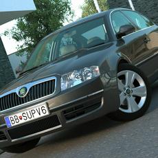 Skoda Superb (2006) 3D Model