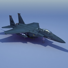 F15E Strike Eagle Strike Jet 3D Model