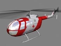Bo105 V6 3D Model