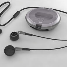 Philips Earphones 3D Model