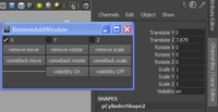 Free AddRemove transformation and visibility window for Maya 9.0.0 (maya script)