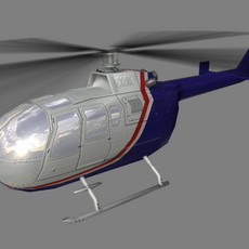 Bo105 V5 3D Model