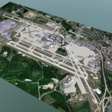 International Airport Set 1 3D Model