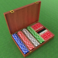 Poker Equipment Collection 3D Model