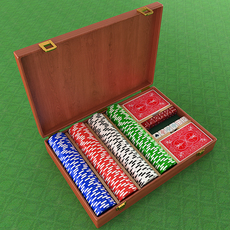 Poker Equipment Collection 3D Model