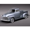 Chevrolet Pickup 1950 classic pickup 3D Model