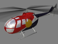 Bo105 V4 3D Model