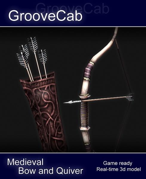 Bow Arrows Quiver 3D Model