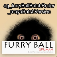 ag_furryBallBatchRnder_mayaBatchVersion for Maya 1.0.0 (maya script)