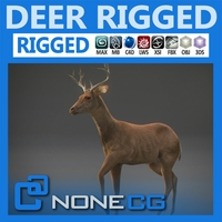 Rigged Deer 3D Model