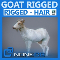 Rigged Goat 3D Model