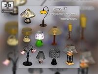 Lamps set 3D Model