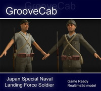 Japanese SNLF Soldier 3D Model