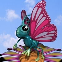 Cartoon Butterfly RIGGED 3D Model