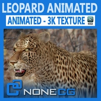 Animated Leopard 3D Model