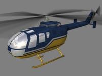 Bo105 V3 3D Model