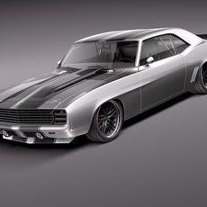 Chevrolet Camaro 1969 Pro Touring Custom 3D Model