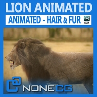 Animated Lion 3D Model