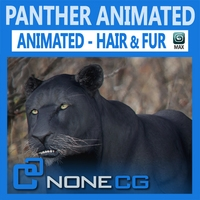 Animated Panther 3D Model