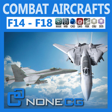 Pack - Combat Aircrafts 3D Model