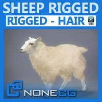 Rigged Sheep 3D Model