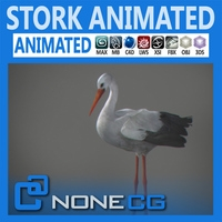 Animated Stork