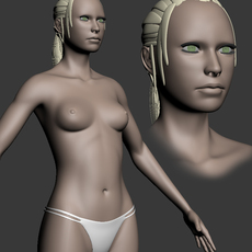 woman/girl 3D Model