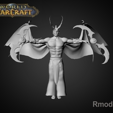 Illidan Demon Hunter 3D Model