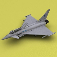 Typhoon RAF 6 Squadron 3D Model