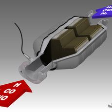 Car Exhaust Catalyser 3D Model