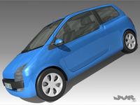 Small City Car 3D Model