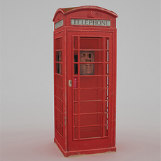 British Telephone Box - Low Poly 3D Model