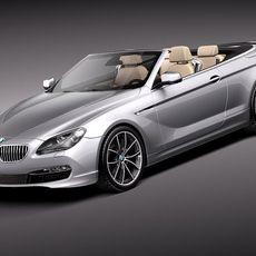 BMW 6 Convertible 2012 3D Model