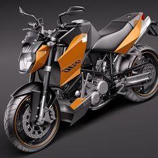 KTM Super Duke 2011 3D Model