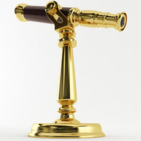 Brass Desk Telescope 3D Model