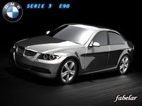 BMW serie 3 E90 3D Model