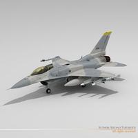 F-16E block 60 3D Model