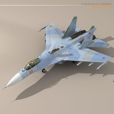 Su-27 Flanker camo 2 3D Model