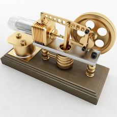 Stirling Engine 3D Model