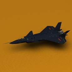 China Chengdu J-20 Fighter Jet 3D Model