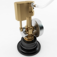 Minature Wobble Steam Engine 3D Model