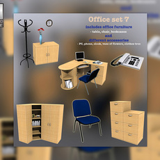 Office Set 07 3D Model