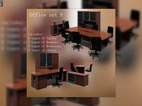 Office set 08 3D Model