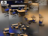 Office Set 09 3D Model