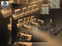 Office Set 10 3D Model