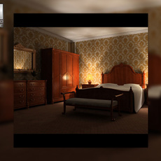 Bedroom Set 01 3D Model