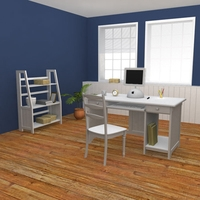 Home WorkPlace Set 01 3D Model