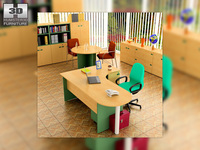 Office set 18 3D Model